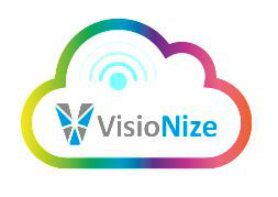 "A colorful cloud with the legend ""VisioNize"""