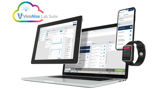 The lab management platform VisioNize Lab Suite