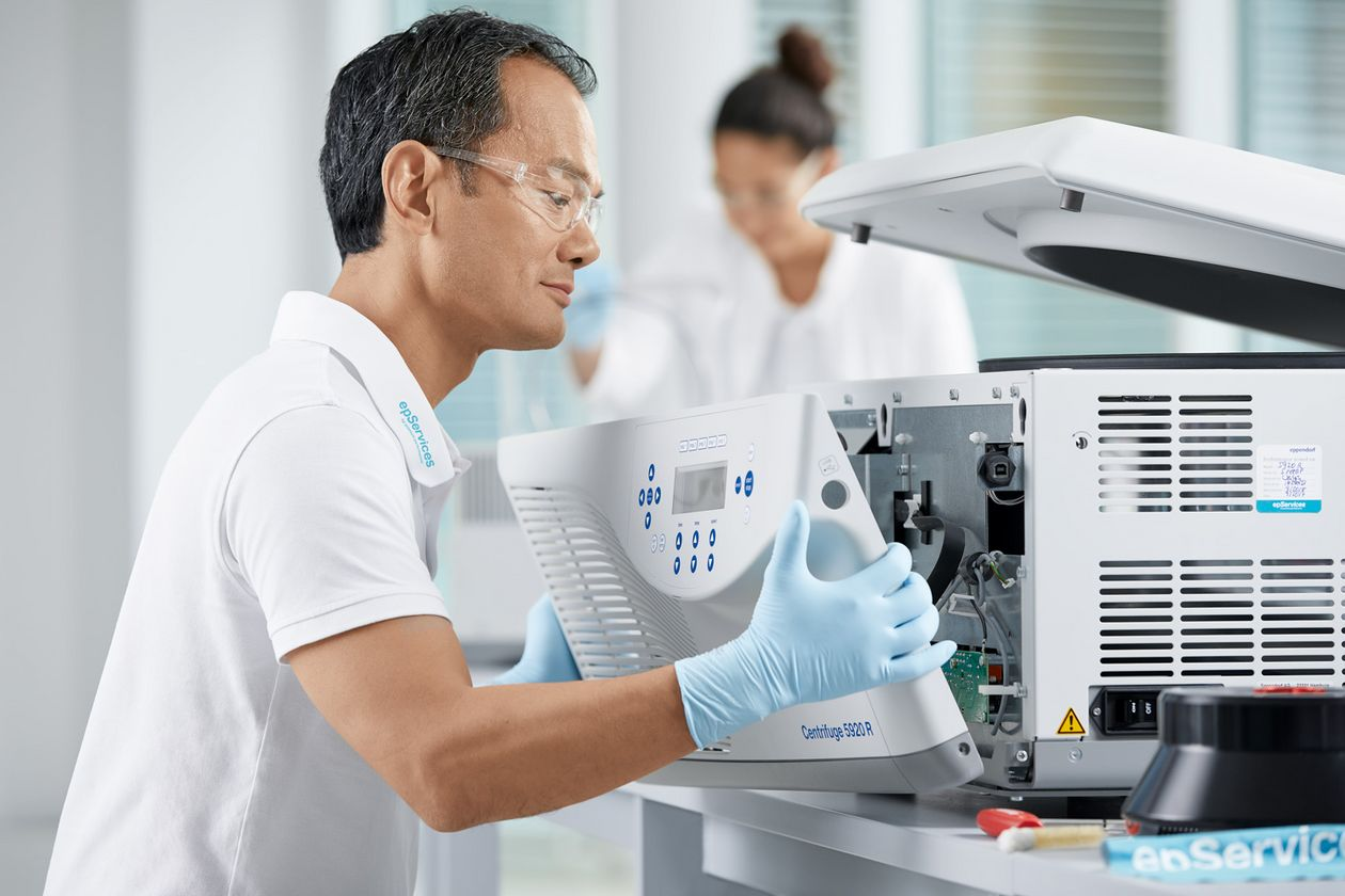 Eppendorf support member executes centrifuge rotor inspection service