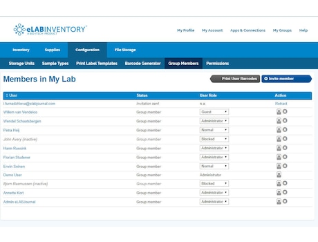 Image – eLABInventory User management