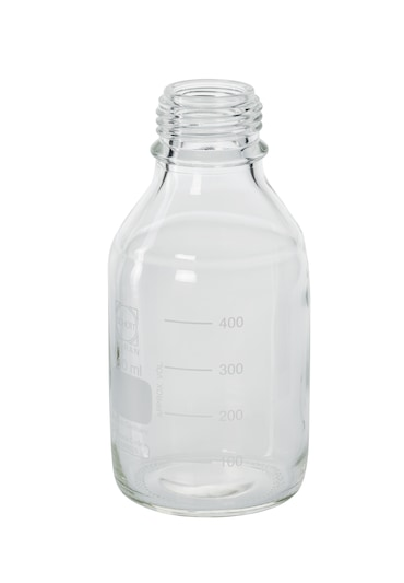 Image – Flask, with neck GL45 transparent, 500 mL, with cap