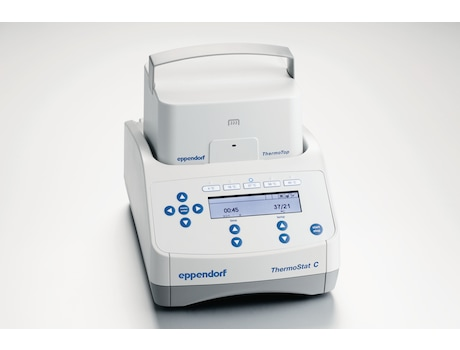 Eppendorf ThermoStat C equipped with ThermoTop for prevention of condensation