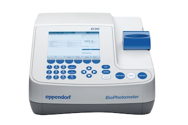 View from the front on Eppendorf BioPhotometer D30