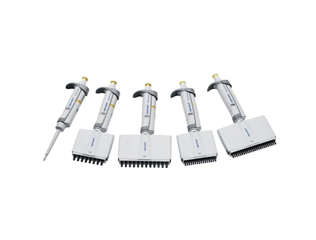Eppendorf Research<sup>®</sup> plus mechanical pipettes with single-channel and multi-channel pipette options