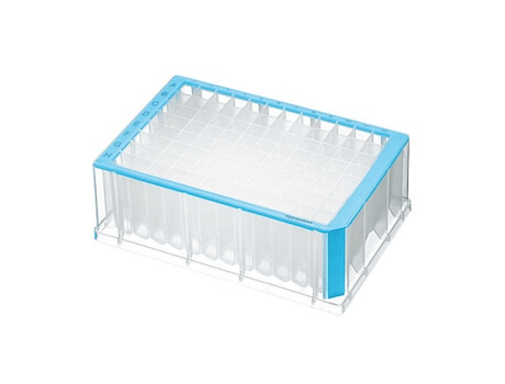 Deepwell Plate 96/2000 µL, wells clear, 2000 µL, Sterile, blue, 20 plates (5 bags × 4 plates)