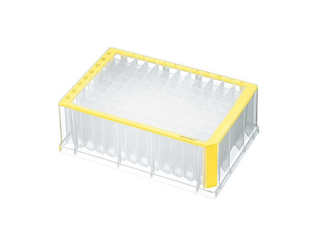 Deepwell Plate 96/2000 µL, wells clear, 2000 µL, PCR clean, yellow, 20 plates (5 bags × 4 plates)