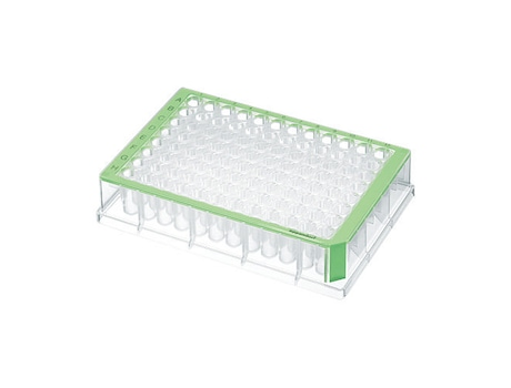 Deepwell Plate 96/500 µL, wells clear, 500 µL, Sterile, green, 40 plates (5 bags × 8 plates)