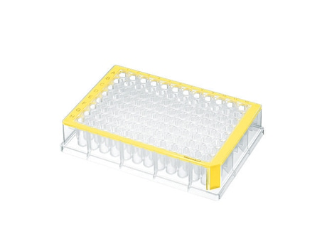 Deepwell Plate 96/500 µL, wells clear, 500 µL, PCR clean, yellow, 40 plates (5 bags × 8 plates)