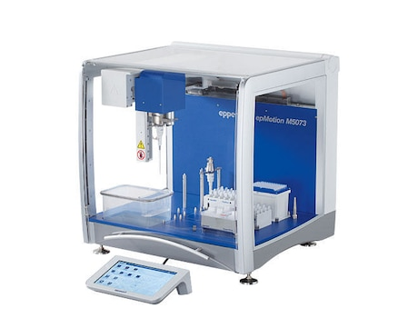epMotion® M5073, completely contained housing, system incl. EasyCon, Eppendorf MagSep™ module, Eppendorf ThermoMixer®, epBlue™ software and Prep assistant, TS 50, TS 1000, PrepRack, ReagentRack, Rack for 24 Safe-Lock Tubes, mouse, waste box, 100 – 240 V ±10 %/50 – 60 Hz ±5 %, 0.2 µL – 1 mL