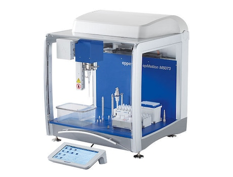 epMotion® M5073c, with CleanCap, EasyCon, Eppendorf MagSep™ module, Eppendorf ThermoMixer®, epBlue™ software and Prep assistant, TS 50, TS 1000, PrepRack, ReagentRack, Rack for 24 Safe-Lock Tubes, mouse, waste box, 100 – 240 V ±10 %/50 – 60 Hz ±5 %, 0.2 µL – 1 mL