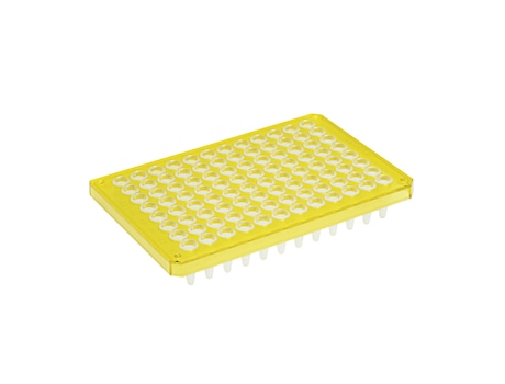 Eppendorf twin.tec® PCR Plate 96, semi-skirted, 250 µL, PCR clean, yellow, 25 pcs.