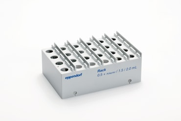 Tuberack for up to 24 tubes from 0.5-2.0 mL fro automated liquid handler epMotion