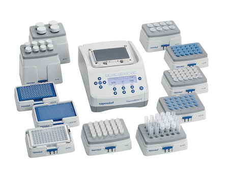 Eppendorf ThermoMixer C with broad range of SmartBlocks for different vessel types