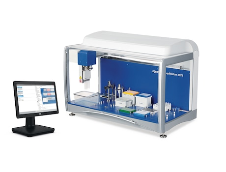 epMotion 5075l, versatile automated liquid handling workstation with PC controller