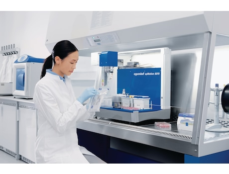 Automated pipetting of cell culture plates in 6, 12, 24, 48, 96 or even 384-well format