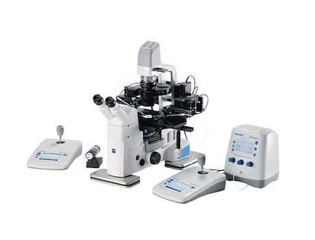 Image – workstation with FemtoJet 4 manipulation blastocysts Zeiss