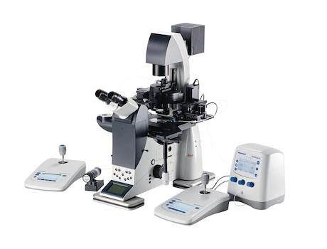 Image – workstation with FemtoJet 4 Leica