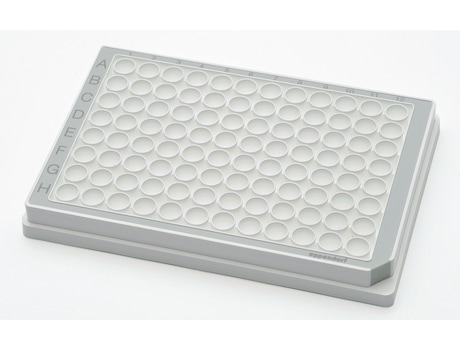 Microplate 96/F, wells white, PCR clean, gray, 80 plates (5 bags × 16 plates)