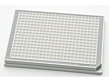 Microplate 384/V, wells white, PCR clean, gray, 80 plates (5 bags × 16 plates)