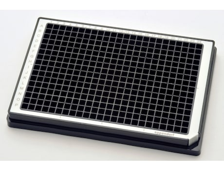Microplate 384/V, wells black, PCR clean, white, 80 plates (5 bags × 16 plates)