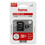 Hama microSDHC Card 16 GB incl. SD adapter