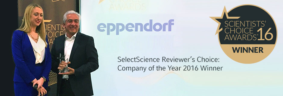 Eppendorf Receives SelectScience Reviewers' Choice Award for Company of the Year